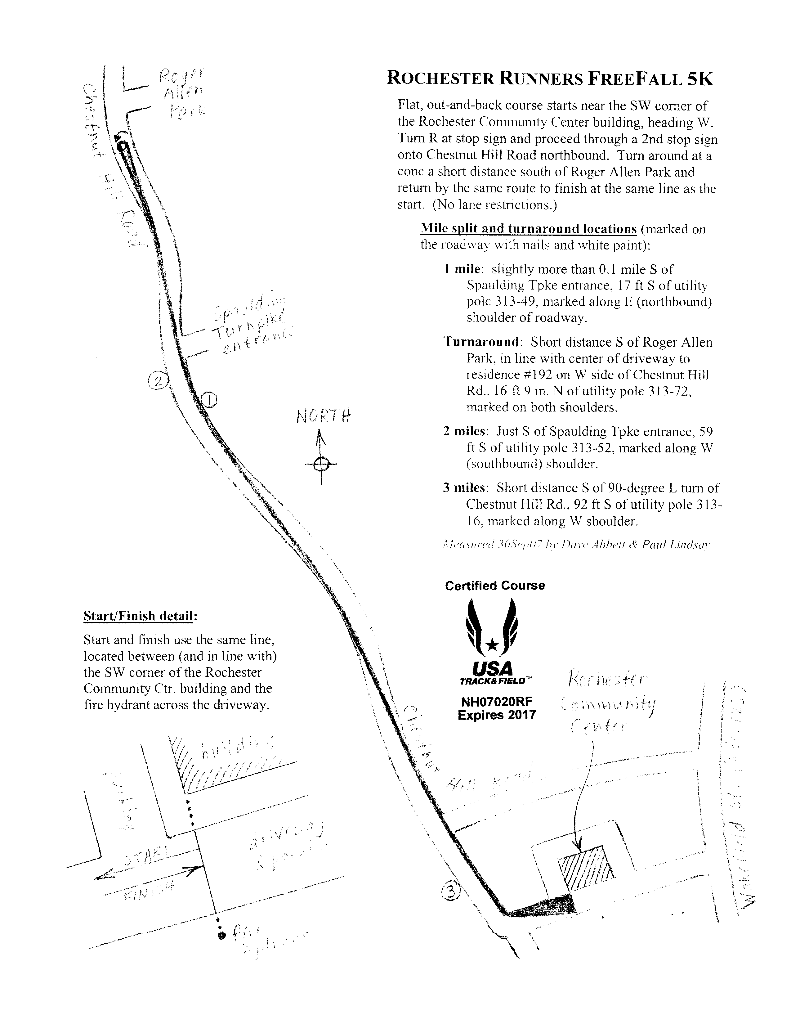 Course Map Free Fall K - Map run distance free